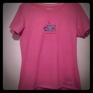 Life is Good pink tee shirt Girls Night Out